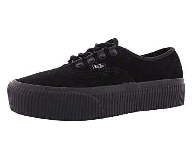 Vans Womens Authentic Platform Black Suede Trainers 38 EU