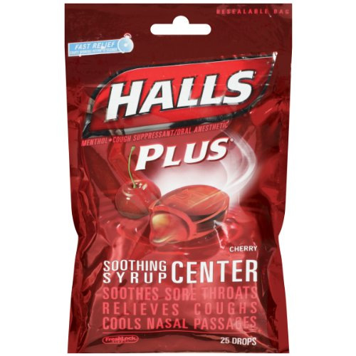UPC 312546051263, Halls Plus Drops, Cherry, 25-Count Drops (Pack of 12)