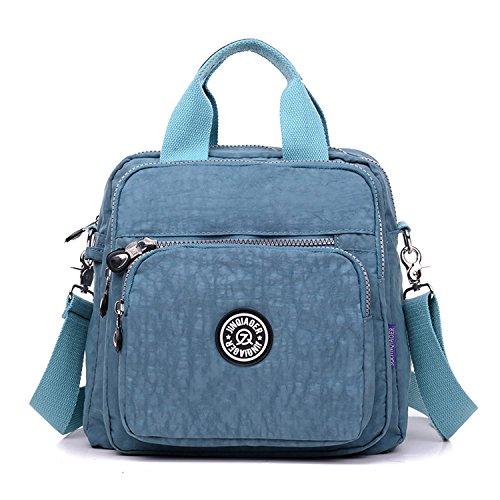 Foino Bolsos Muje Bolso Bandolera Ligero Mochilas Impermeable Modar Casual Bolsas de Viaje Bolsos Escuela para Tablet Sport Bag Azul 4