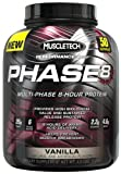 MuscleTech Phase 8 Protein Powder, Multi-Phase 8-Hour Protein Formula, Vanilla, 4.6lbs (2.09kg)