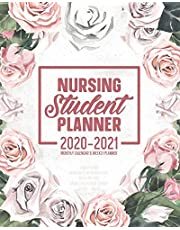 Nursing Student Planner 2020-2021 Monthly Calendar And Weekly Planner: 12 Month Agenda Motivational & Inspirational Quotes Painted Pink Floral Nursing School Academic Organizer July 2020 - June 2021: Time Management Journal