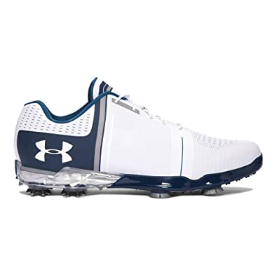 2fd8f8264ac Under Armour Mens UA Spieth One Golf Shoes - White/Steel/Academy - UK