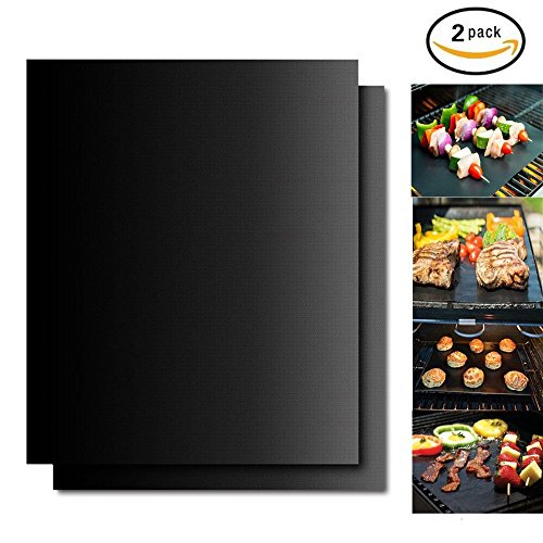 Youhome BBQ Grill Mat, Set of 2 100% Non-stick Baking Mat, 16