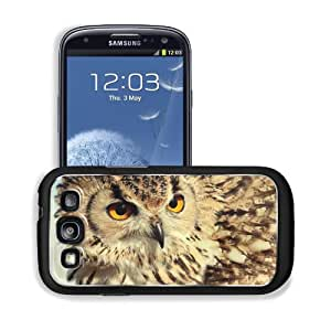 Birds Animals Golden Feathers Owls Samsung I9300 Galaxy S3 Snap Cover Premium Aluminium Design Back Plate Case Customized Made to Order Support Ready 5 3/8 inch (136mm) x 2 7/8 inch (73mm) x 7/16 inch (11mm) MSD Galaxy_S3 Professional Metal Cases Touch Ac by lolosakes