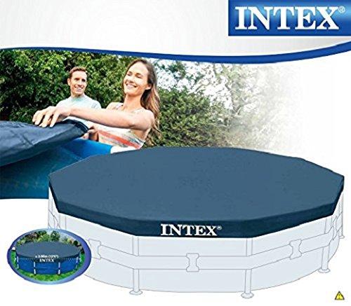 Intex Abdeckplane für Metal Frame Pool, schwarz, Ø 366 cm, Überhang 25 cm