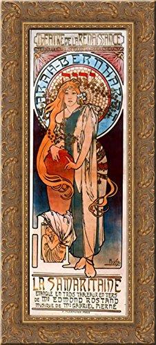 la-samaritaine-14x24-gold-ornate-wood-framed-canvas-art-by-mucha-alphonse-maria