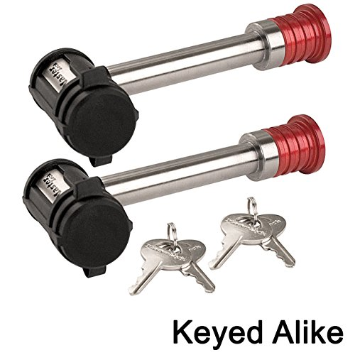 Master Receiver/Hitch Lock - Extra Long Shaft Two (2) Locks Keyed Alike 1469KA-2 ()