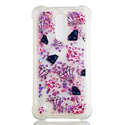 Leton Funda LG K4 2017 Líquido Silicona Bling Glitter