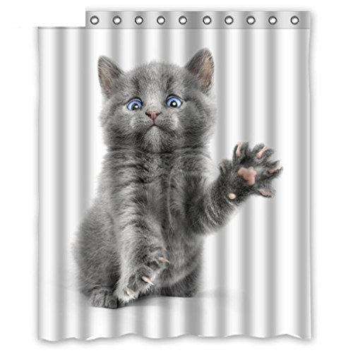 Cat Shower Curtains Bathroom With 12 Hooks Waterproof Accessories For Decor Modern Animal Bath Curtain New Gift 17219 200x180cm
