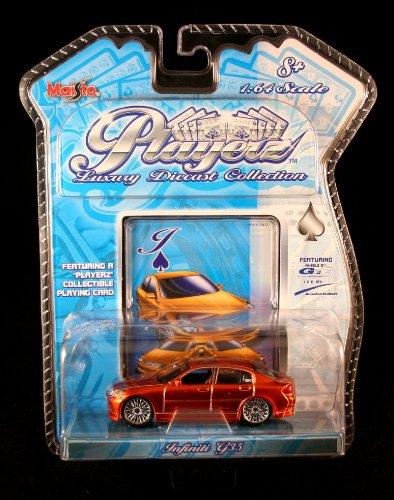 Dinky Toy Cars - INFINITI G35 * ORANGE * Maisto PLAYERZ Luxury Die-Cast Collection 1:64 Scale Vehicle