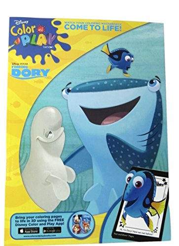 Finding Dory Color and Play with Jumbo Crayons and a Sheet of Stickers Bundle Set of 3 (Destiny and (Cupcake Costume Pattern)