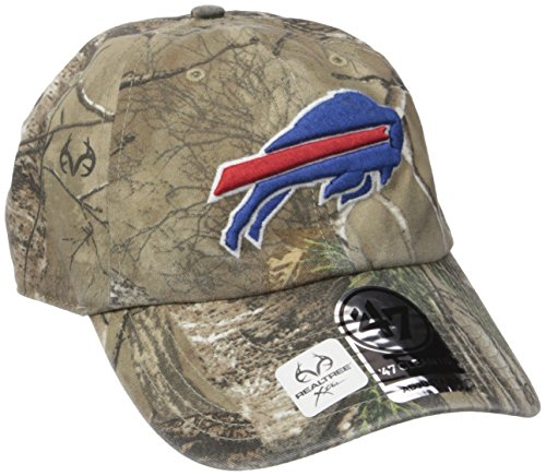 NFL Buffalo Bills '47 Brand Big Buck Clean Up Adjustable Hat (Realtree Camouflage, One Size)