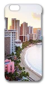 For Iphone 4/4S Case Cover For Iphone 4/4S Case Cover -Waikiki Beach Hawaii Polycarbonate Hard Case Back For Iphone 4/4S Case Cover 3D
