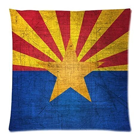 Amazon.com: COOL Arizona Estado Bandera Patrón De Metal ...