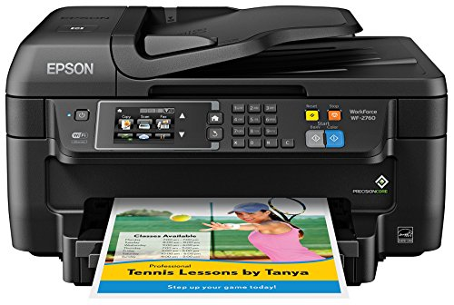 Epson WF-2760 All-in-One Wireless Color Printer with Scanner, Copier, Fax, Ethernet, Wi-Fi...