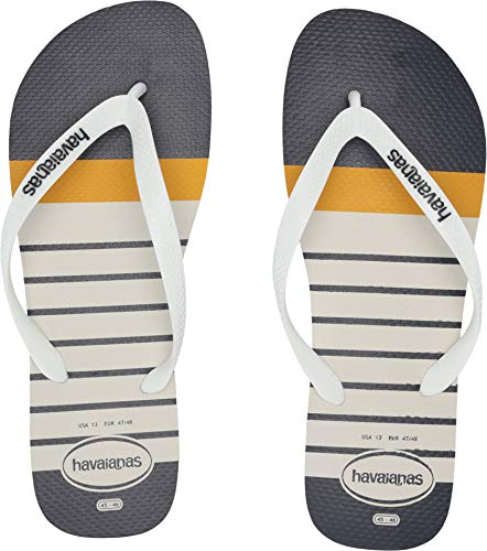 Havaianas Men's Top Nautical Flip-Flop Sandal (45-46 M EU, - Sandals Embossed Havaianas