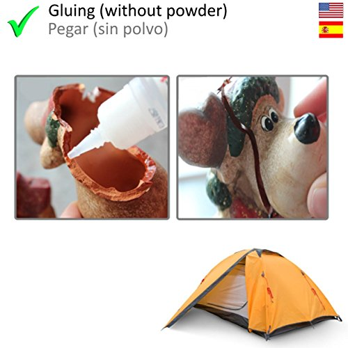 HG Power Glue - Clear Industrial Strength Glue with Powder, The Super-Glue for Nearly All Kind of Plastic, PVC, Wood, Metal and Many More, Also Perfect as Model Glue (1 Pack, 25ml+40g) by HG Power Glue (Image #4)