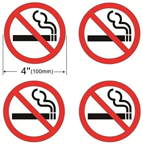 Amazoncom OutdoorIndoor Pack Dia NO SMOKING Warning - Window alert decals amazon