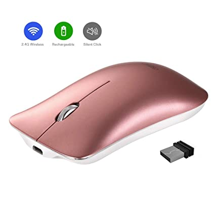 da54c8772bc Wireless Mouse, Inphic Slim Silent Click Rechargeable 2.4G Wireless Mice  1600DPI Optical Portable USB