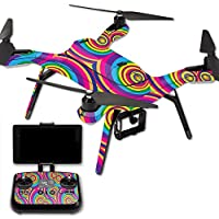 MightySkins Protective Vinyl Skin Decal for 3DR Solo Drone Quadcopter wrap cover sticker skins Groovy 60s