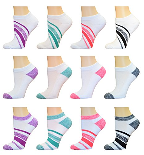 AirStep Women's No Show Low-Cut Athletic Socks with Cushion Sole - 12 Pair