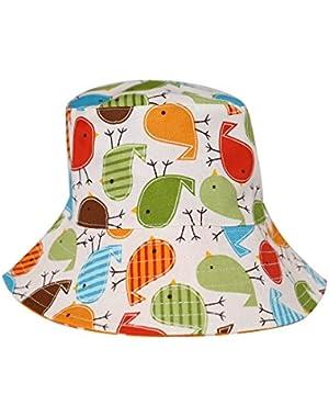 Baby Boy's Sun Protection Beach Bucket hat UPF 50+ Cute Birds