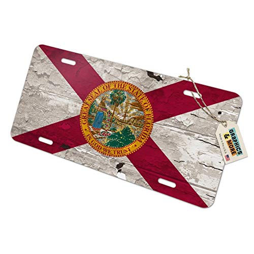 - Graphics and More Rustic Florida State Flag Distressed USA Novelty Metal Vanity Tag License Plate