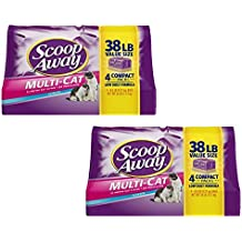 Scoop Away Multi-Cat, Scented Cat Litter, 38 Pounds (pack of 2)