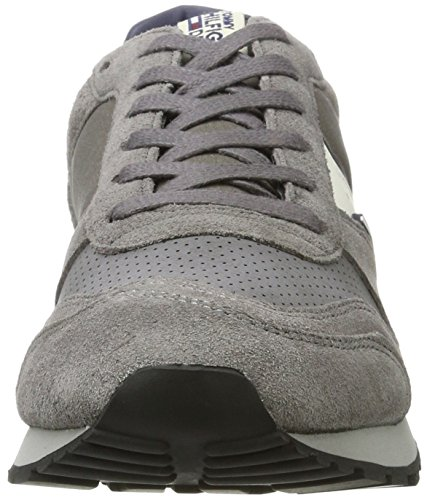 B2385aron Grigio da Sneakers basse grigio Tommy 1c1 acciaio inchiostro uomo Jeans 5xq4XS1w0