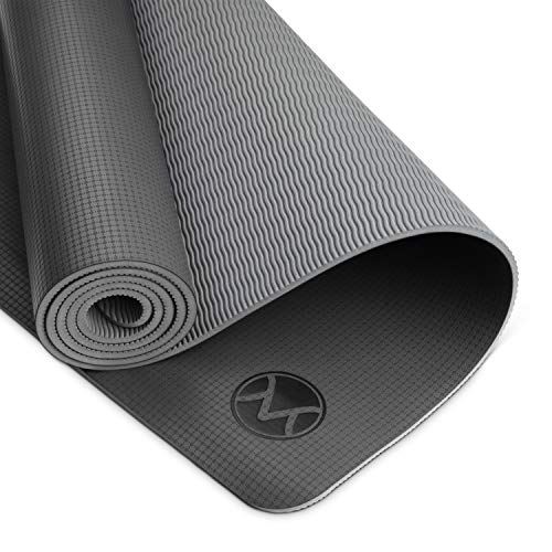 Youphoria Yoga Non Slip Yoga Mat, 24 inches x 72 inches x 6mm, Lightweight and Absorbent Yoga Mats for Hot Yoga, Home Yoga or Travel Yoga, Premi-OM Hot Yoga Mat, Onyx Black