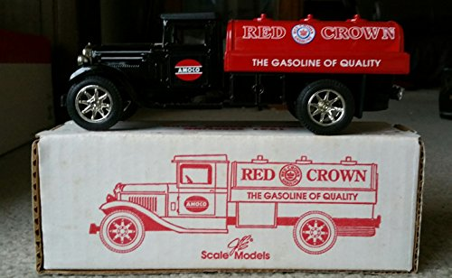 scale-models-red-crown-amoco-gasoline-1931-sterling-truck-bank-mint-in-box