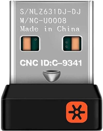 Logitech Unifying - Receptor USB, Color Negro