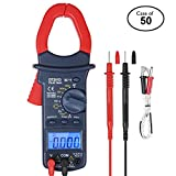 Case of 50, AstroAI Digital Clamp Meter, TRMS 6000 Counts Multimeter Volt Meter with Manual and Auto Ranging; Measures Voltage Tester, Current, Resistance, Continuity, Frequency; Tests Diodes, Tempera