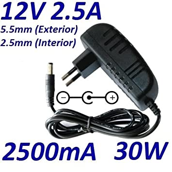 Cargador Corriente 12V 2.5A 2500mA 5.5mm 2.5mm 30W Pared ...