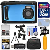 underwater camera coleman - Coleman Venture HD C40WP Shock & Waterproof Digital Camera (Blue) with 32GB Card + Case + Underwater LED Light + Floating Buoy + Tripod + Bike Mount + Kit