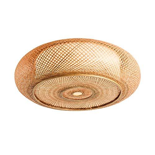 (Pendant Lights Ceiling Bamboo Woven Chandelier Southeast Asian Restaurant Cafe E27 Ceiling Lamp Living Room Bedroom Decoration Chandeliers (Size : Diameter 50cm) )