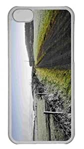 Customized iphone 5C PC Transparent Case - Dirt Road Contrast Personalized Cover