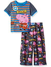 Toddler Boys George Pig Guitar 2pc Sleepwear Set