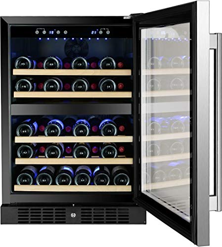Kucht K148E12 24 Inch Built-In Dual Zone Wine Cooler with 54 Bottle Capacity, in Stainless Steel by Kucht (Image #2)