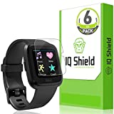 [6-Pack] IQ Shield LiQuidSkin Clear Screen Protector for Fitbit Versa Bubble Free Film