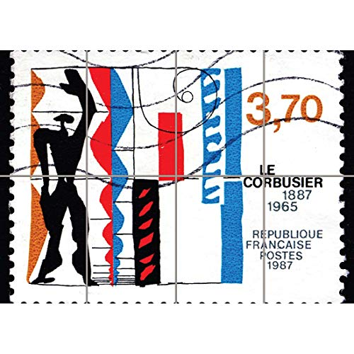 (PHILATELY POSTAGE STAMP FRANCE 1987 WORKS OF LE CORBUSIER ART PRINT MP2197)
