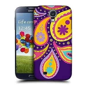 AIYAYA Samsung Case Designs Taro Paisley Patterns Protective Snap-on Hard Back Case Cover for Samsung Galaxy S4 I9500