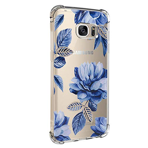 Case Compatible with Galaxy S7/S7 Edge Case Vanki Shockproof Thin Clear Soft TPU Protective Cover (S7 edge, Color2)