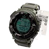 Casio Men's PRG250B-3DR PRG-250B-3DR Military Army Green Quartz Watch with Digital Dial Limited Edition, Watch Central