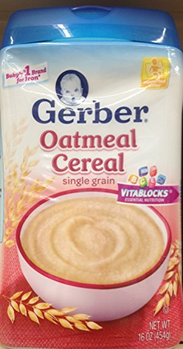 Gerber Single Grain OATMEAL CEREAL 16oz (Pack of 3)
