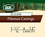 LEM Products 1 1/2 x 12-Inch Non-Edible Fibrous Casings (Clear) Review