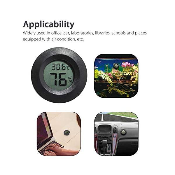 Thlevel 3PCS Mini LCD Digitale Termometro Igrometro Temperatura Umidità Misuratore 6
