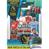 2018/19 Topps Match Attax English Premier League Soccer Factory Sealed STARTER Kit with Collectors Binder Album, Play Pitch,Game Guide & 12 Cards including (2) EXCLUSIVE Limited Edition Cards! WOWZZER