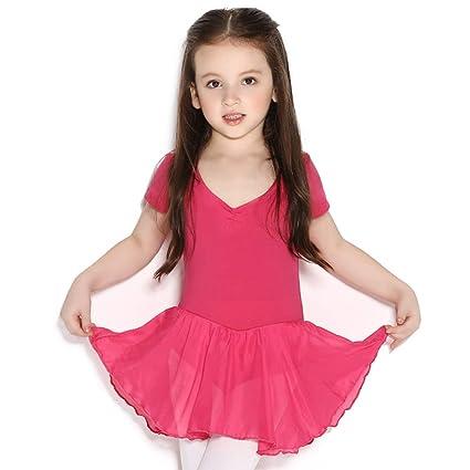 Cvbndfe Cómodo Vestido de algodón para niña Medias de Gasa Danza, Gimnasia y Ballet Elegante
