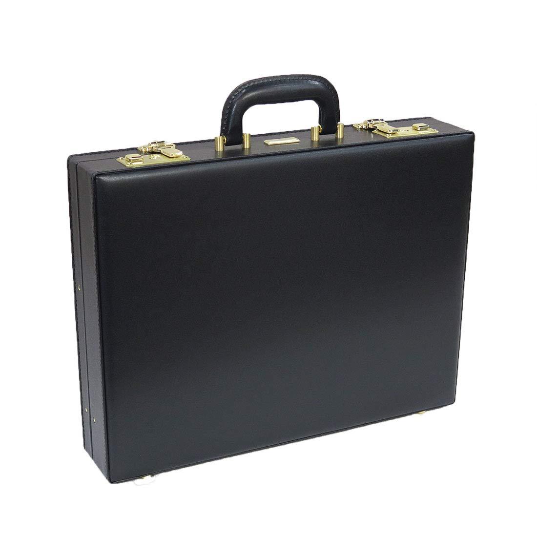 J.C HAMILTON 合成皮革製アタッシュケース 42cm[B4F対応]21227 (ブラック) B07HLBVTB9